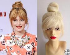 Tinkerbell Fairy Disney Blonde Top Knot Bun Updo Pixie Costume Wig Hair Cosplay