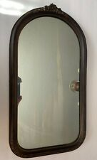 Antique Wood Wall Mirror Floral Rectangle