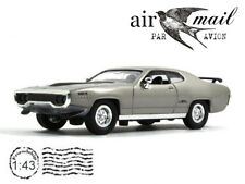 Plymouth GTX Gray 1971 Model 1/43 Scale Collection American Diecast Car YATMING