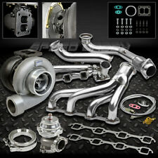 GT45 6PC TURBO KIT TURBOCHARGER+MANIFOLD+CROSS PIPE 79-93 FORD MUSTANG 5.0L V8