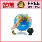 """World Globe with Stand - 13"""" Globes for Kids with Light Up Constellation"""