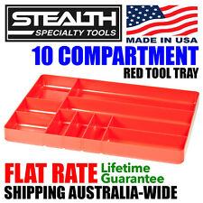 STEALTH 10 Compartment Red Tool Tray Drawer Organiser Stacking Trays Divider
