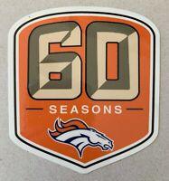 DENVER BRONCOS 60TH ANNIVERSARY DECAL VINYL STICKER NFL FOOTBALL 1960 - 2019