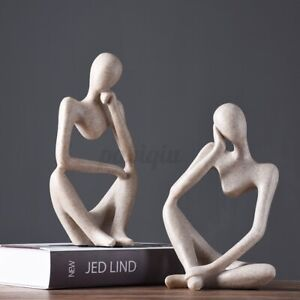 🔥Nordic Abstract Thinker Statue Resin Figurine Desktop Crafts Home Office Decor