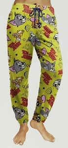 Briefly Stated Women's Sleep Jogger Tom Vs. Jerry Yellow Size Large New