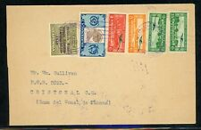 Guatemala Postal History: LOT #25 1938 Multifranked Air to CRISTOBAL CANAL ZONE