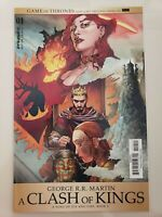 GEORGE R.R. MARTIN A CLASH OF KINGS #1 (2017) DYNAMITE COMICS GAME OF THRONES!