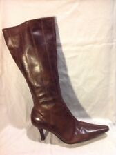 Emotion Brown Mid Calf Leather Boots Size 4