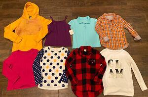 girls long sleeve shirts size 7/8 Cat&Jack Reebok Arizona Jean Co. Buffalo Plaid
