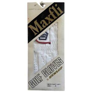 Vintage Maxfli Left Hand Golf Glove By Dunlop Mens Size Medium Deadstock NOS 80s