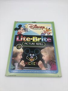 LITE BRITE Disney Characters Picture Refill & Guide Sheets / Package