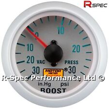 Silver Face 52mm Mechanical Turbo Boost Pressure Gauge PSI With Fitting Kit