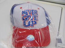 WWE AUTHENTIC John Cena Red, White, and Blue Baseball Cap Hat BRAND NEW