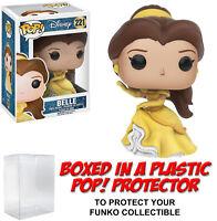 Funko POP! Disney ~ BELLE (#221)(FLOWING DRESS) FIGURE w/Protector Case