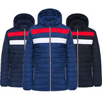 NEW MENS BUBBLE COAT HOODED QUILTED PADDED PLAIN PUFFER WARM THICK JACKETS SIZE