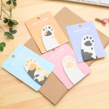 Cute Cat Paw Sticky Notes Bookmark Point Sticker Memo Post IT Marker Tab Flags