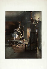 WILLIAM LADD TAYLOR Antique 1905 Halftone Print HOME KEEPING HEARTS ARE HAPPIEST