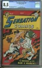 SENSATION COMICS #67 CGC 8.5 WHITE PAGES // GOLDEN AGE WONDER WOMAN COVER