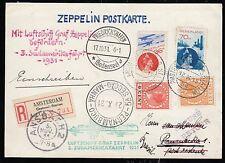 Zeppelin 1931, 3.Südamerikafahrt Zuleitung Niederlande,R-Bf Amsterdam,Sieger 133