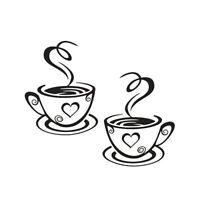 Küche Kaffe Coffee Tasse Wandtattoo Wandsticker Aufkleber Küche Sticker