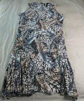 Attitudes By Renee Women's Sleeveless Printed Maxi Dress NA8 Multi Size 3X NWT