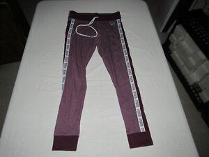 """Victoria's Secret Pink Women's Purple Athletic Yoga Pants Size M Waist 29""""-31"""""""