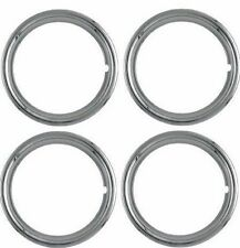 "BEAUTY TRIM RINGS 14 INCH CHROME PLATED 14"" 1 3/4 INCH DEEP NEW"
