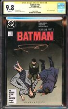 BATMAN 404 YEAR ONE CGC SS 9.8 SIGNED FRANK MILLER 1ST CATWOMAN THE BATMAN MOVIE