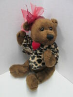 "Dan Dee Collector's Choice Heart Valentine 6"" plush bear"