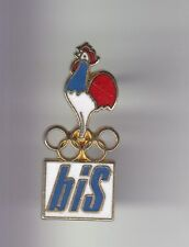 RARE PINS PIN'S .. OLYMPIQUE OLYMPIC ALBERTVILLE 92 BIS INTERIM COQ COCK 3D ~17