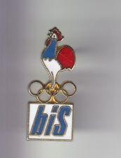 RARE PINS PIN'S .. OLYMPIQUE OLYMPIC ALBERTVILLE 92 BIS INTERIM COQ COCK 3D ~17