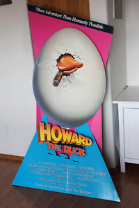 VINTAGE Howard the Duck 1986 film movie theater standee, 5-feet tall, ONLY ONE?