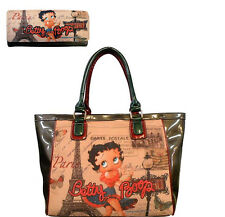 Handbag Large Purse & Wallet Set BETTY BOOP Beautiful Bag Combo New