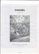 CHANEL JOAILLERIE Pub de Magazine .Magazine advertisement. 2012