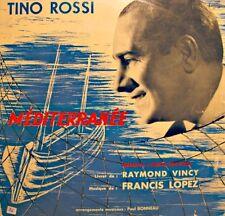 ++TINO ROSSI méditerranée VINCY/LOPEZ/BONNEAU LP COLUMBIA VG++