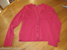 Womens Ann Taylor XS xsmall button up shirt long sleeve pink coral EUC