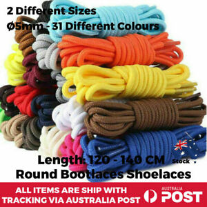 Shoelaces Round Colourful Multi Coloured Bootlace Sneaker Boot shoe laces Unisex