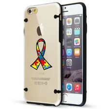 For Apple iPhone Slim Clear TPU Case Cover Color Autism Awareness Ribbon Puzzle