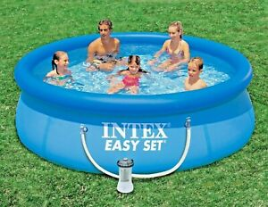 Intex 10ft Swimming Outdoor Summer Garden Family Swimming Pool + WaterFilterPump