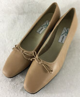 Ros Hommerson Women's Shoes Slip On Tan Leather Pumps Size 12 4A X-Narrow New!