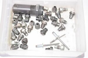 Mixed Lot of Rivet Gun Nose Piece Repair Tooling, W/ Avdel H743 Pulling Head 3/4