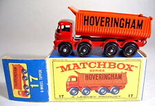 "Matchbox RW 17D Hoveringham Tipper späte Version in ""E2"" Box"