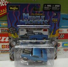 MUSCLE MACHINES 1:64 BLUE 1966 CHEVROLET NOVA SS #15210