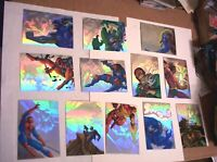 1995 MARVEL FLAIR ANNUAL HOLOBLAST COMPLETE 12 CARD INSERT CHASE SET! HOLOGRAM!