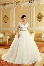 c048New White/ivory  Wedding dress Bridal Gown custom size 2 4 6 8 10 12 14+++