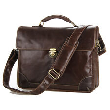 Men's Genuine Leather Briefcases Handbags Shoulder bags Business Cross body Tote
