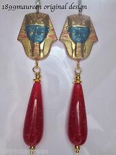 Egyptian revival Vintage Art Deco Orecchini a Goccia Art Nouveau 1920 S 1930 S Grande