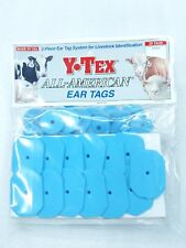 Y-Tex Swine Star 2-Piece Livestock Ear Tags Pig Hog 25 Pack Light Blue 5709-000