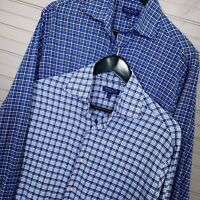 Peter Millar Crown Crafted Vaughn Plaid Oxford Button Shirts Lot of 2 Men's M