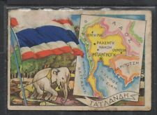 V016 THAILAND 1960s National flag / traditional costume / view-scene / AS IS